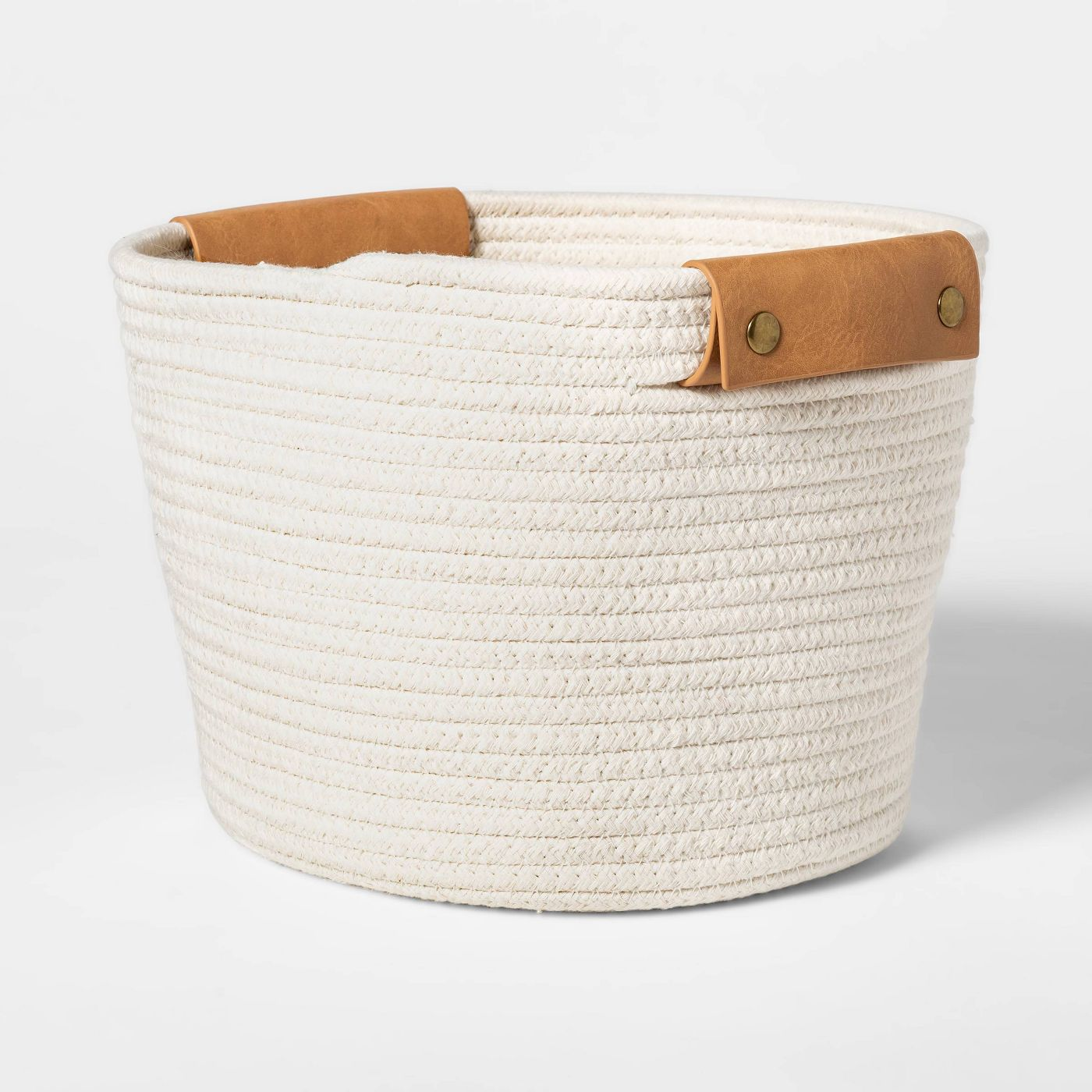 Off-white rope basket from Target