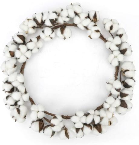18 Inch Cotton Wreath