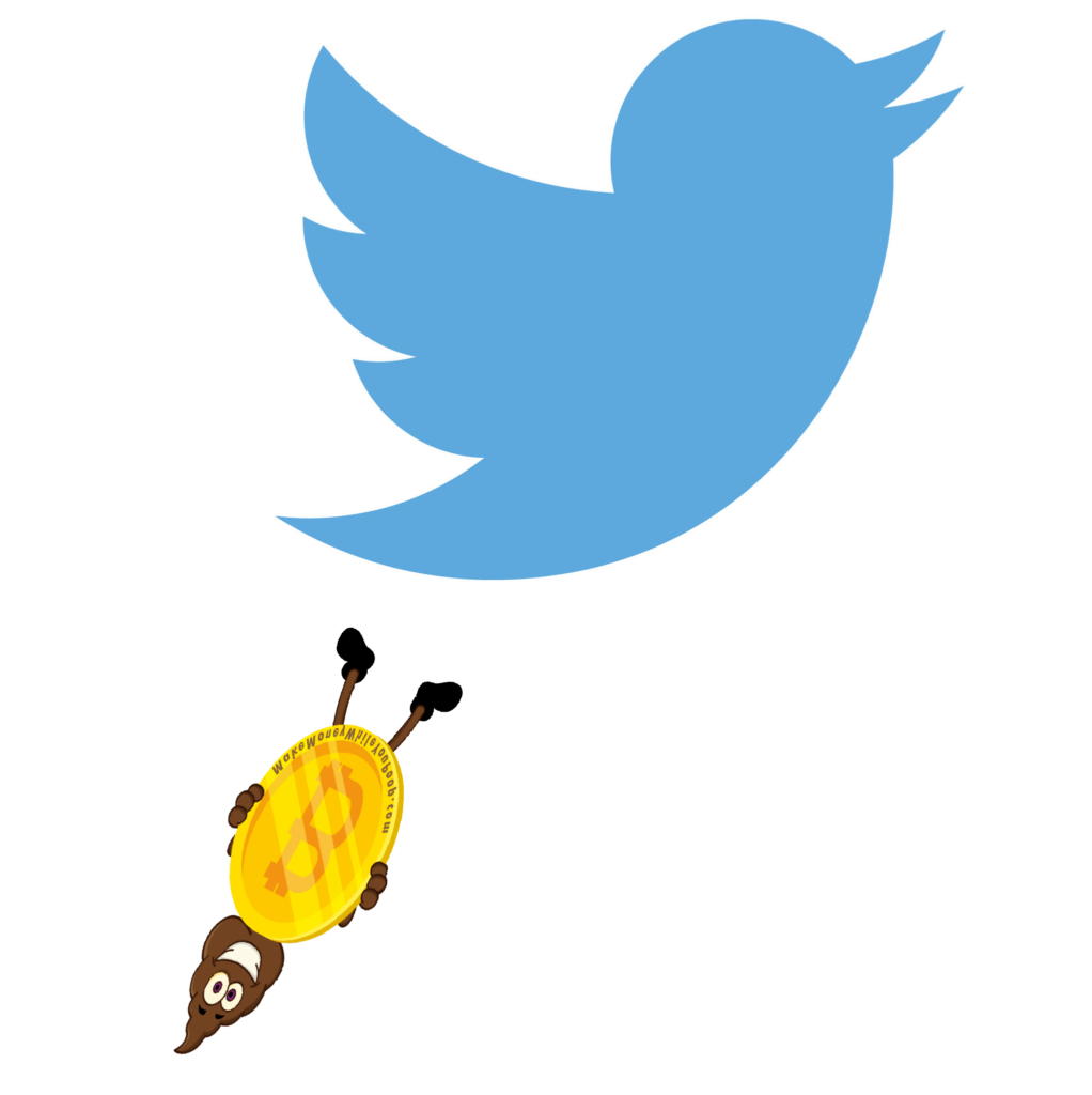twitter is a great place to catch a falling poop (sometimes with bitcoin)