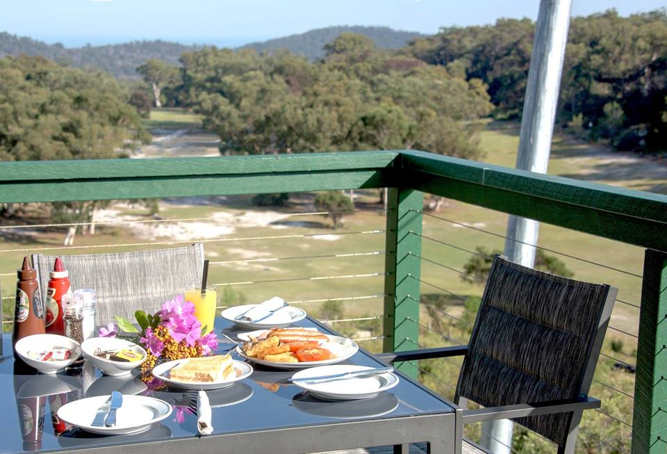 $15 Big Breafast. Fairways and view of Moreton Bay and Brisbane