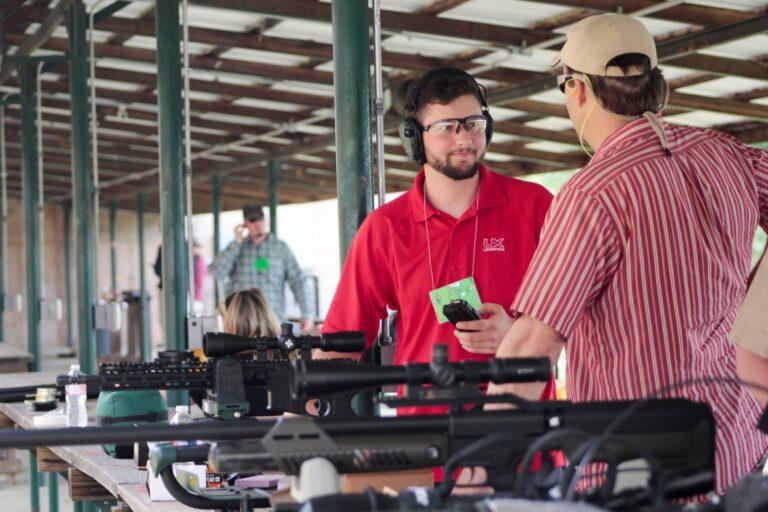 OWAA member gives a gun demonstration