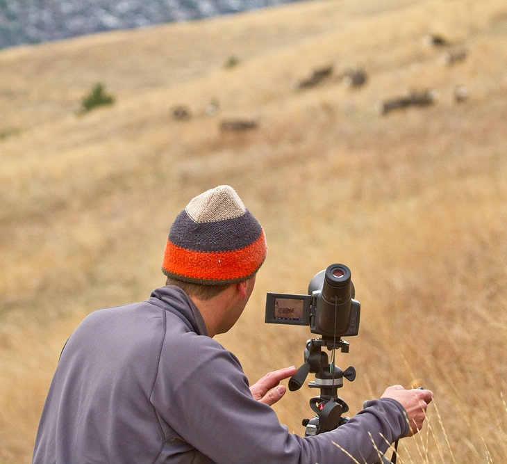 OWAA member stands by camera taking wildlife photography