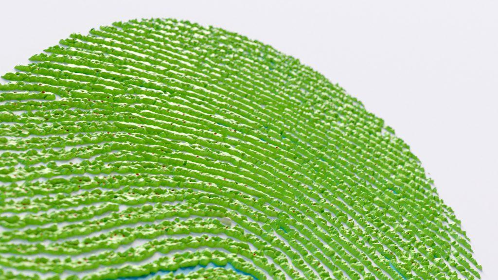 An image of a 3D fingerprint render