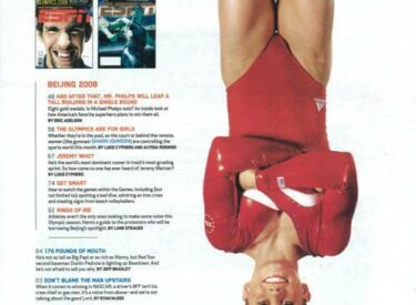 SHAWN JOHNSON ESPN MAGAZINE - OLYMPIC EDITION