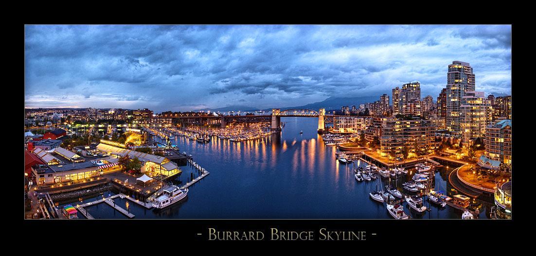 Burrard Bridge Skyline - 7862