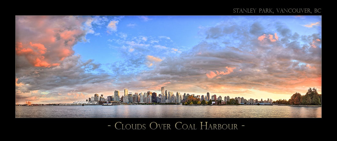 Clouds Over Coal Harbour - 7170