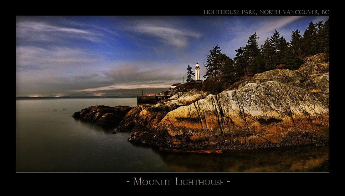 Moonlit Lighthouse - 3480