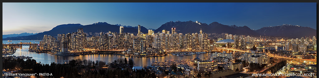 PA010-Brilliant-Vancouver-Skyline-False-Creek-BC-Canada-Downtown-City-Panoramic-Panorama-Chris-Collacott-avision.ca