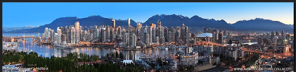 PA016-Vibrant-Vancouver-Skyline-False-Creek-BC-Canada-Downtown-City-Panoramic-Panorama-Chris-Collacott-avision.ca