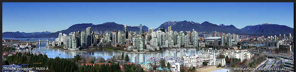 PA305-Pristine-Vancouver-Skyline-False-Creek-BC-Canada-Downtown-City-Panoramic-Panorama-Chris-Collacott-avision.ca