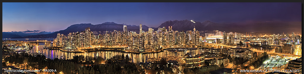 PA309-Spectacular-Vancouver-Skyline-False-Creek-BC-Canada-Downtown-City-Panoramic-Panorama-Chris-Collacott-avision.ca