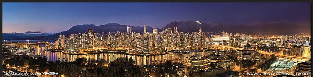 PA309-Spectacular-Vancouver-Skyline-False-Creek-BC-Canada-Downtown-City-Panoramic-Panorama-Chris-Collacott-avision.ca