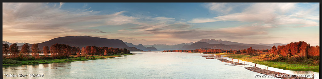 PM050-Golden-Glow-Pitt-River-BC-Canada-Panoramic-Panorama-Chris-Collacott-avision.ca