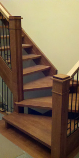 Great oak stair landing