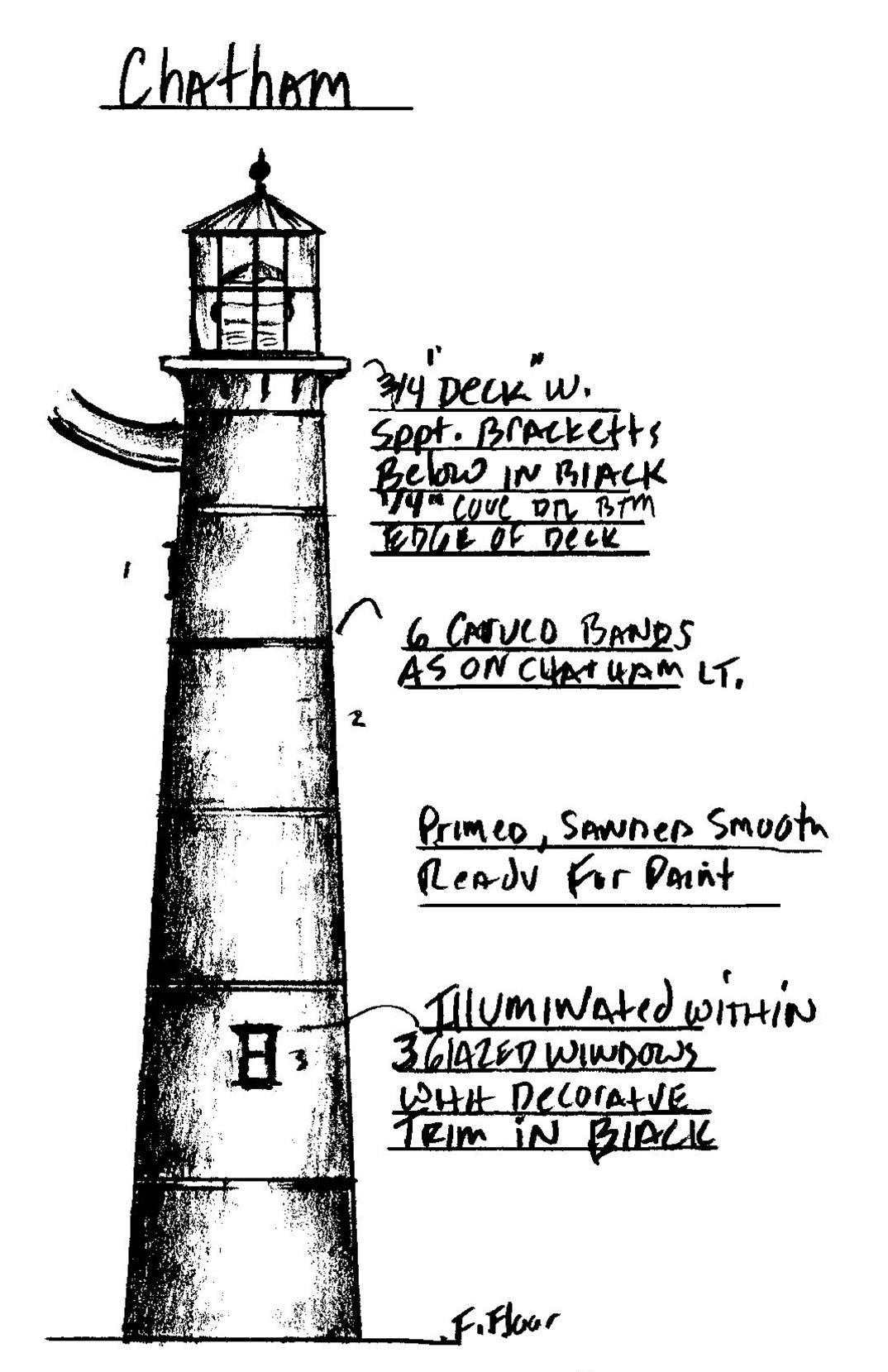 chatham cape cod massachusetts lighthouse newel post