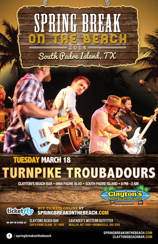 turnpike troubadours south padre island flyer