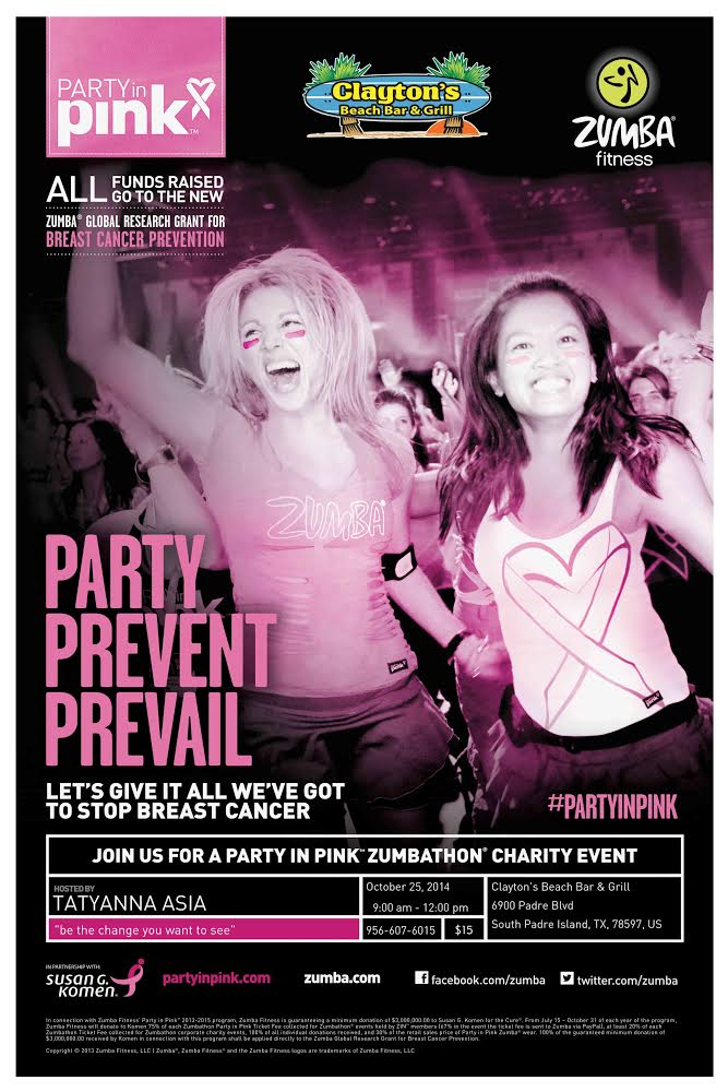 Party in Pink Zumba Clayton's 2014