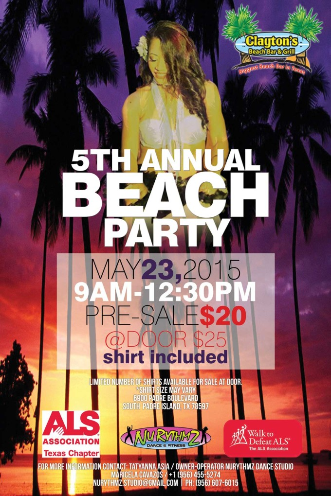 NuRythmZ Annual Fitness Beach Party for ALS