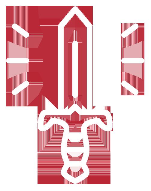 Sword Illustration on Artboard