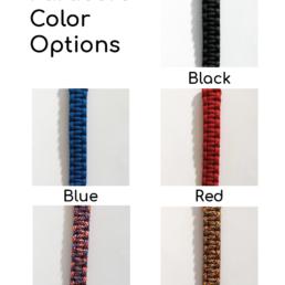 Veital Designs Paracord Color Options