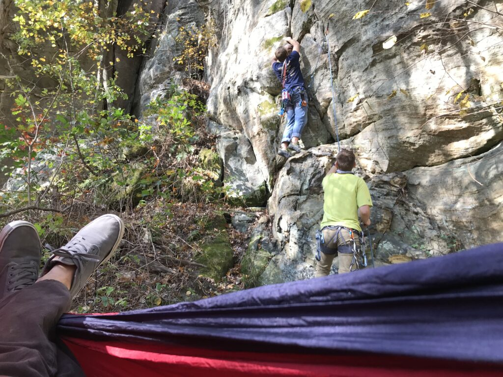 First climb at governor dodge
