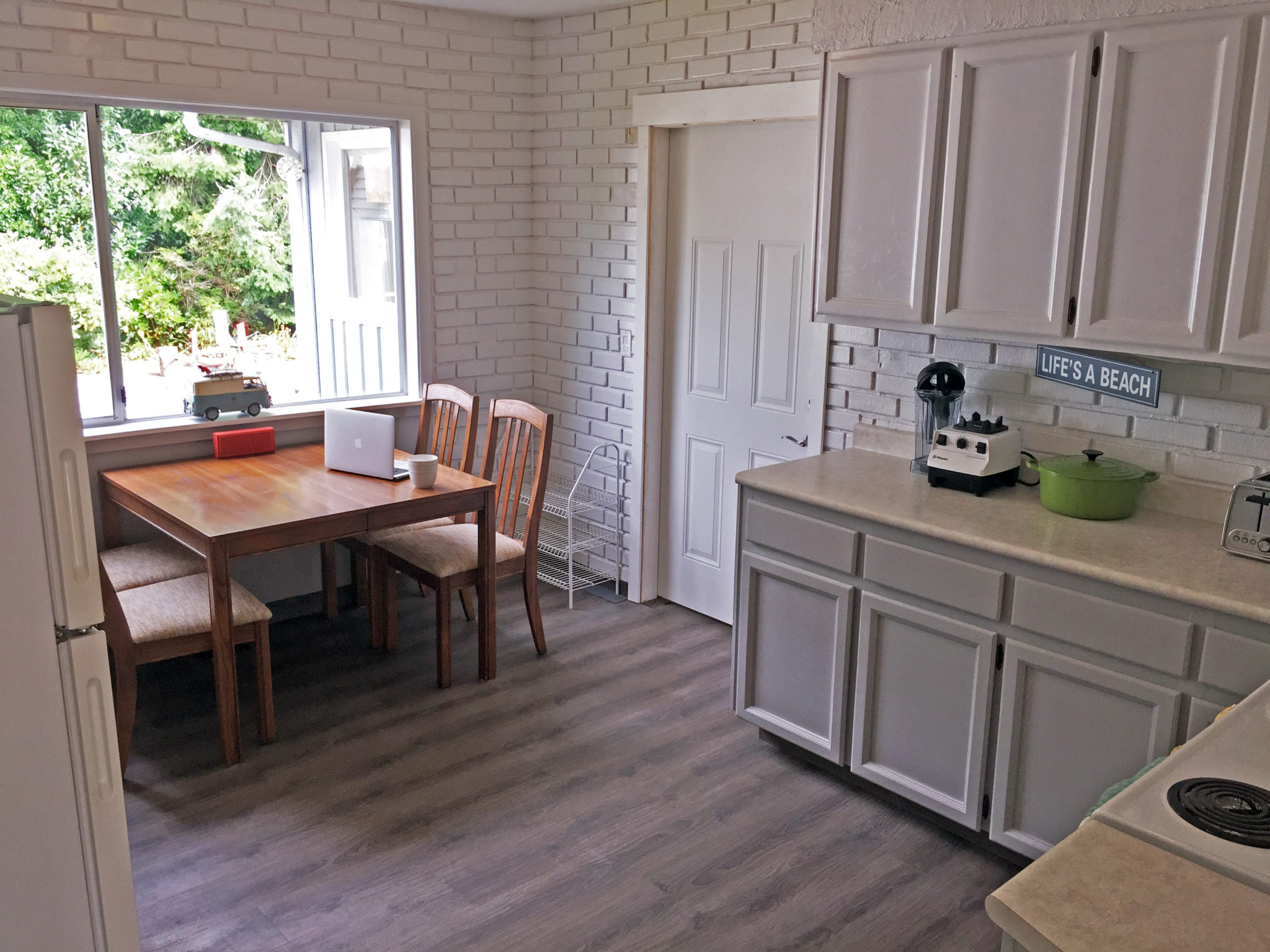 renovated kitchen at best ucluelet vacation rental