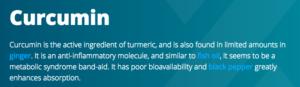 curcumin anti-inflammatory information