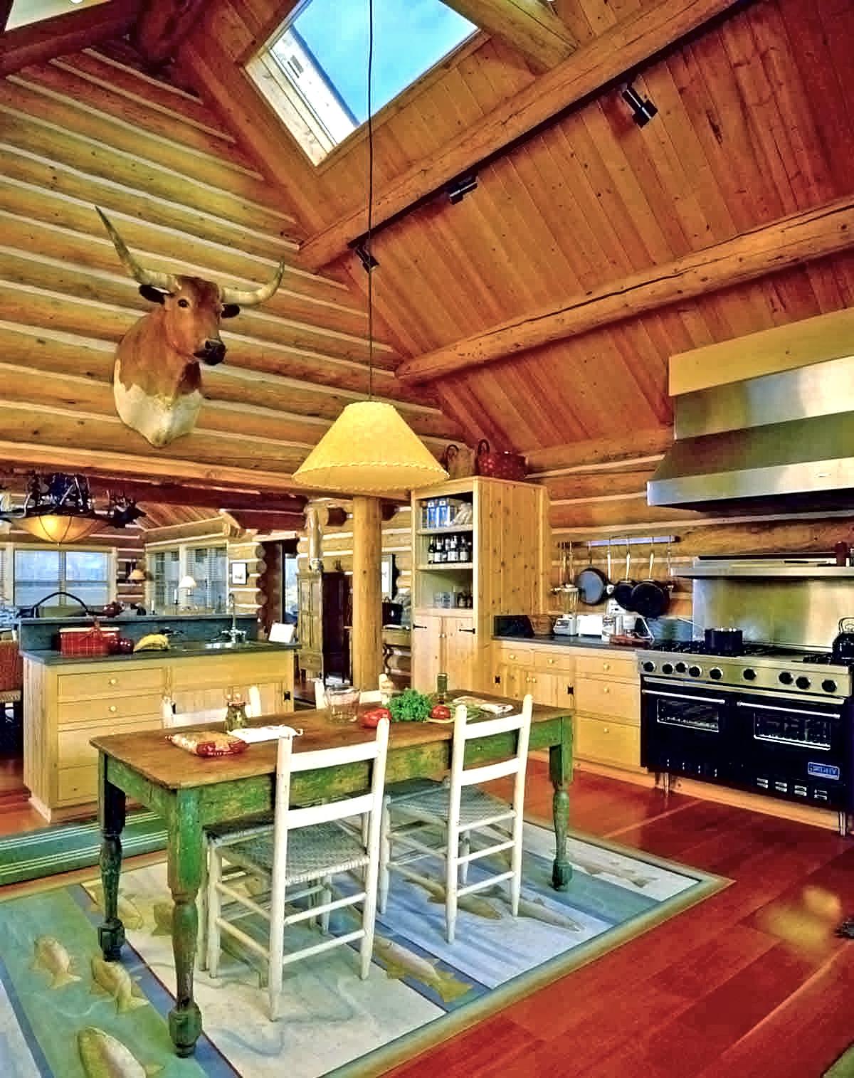 Log Ranch Home