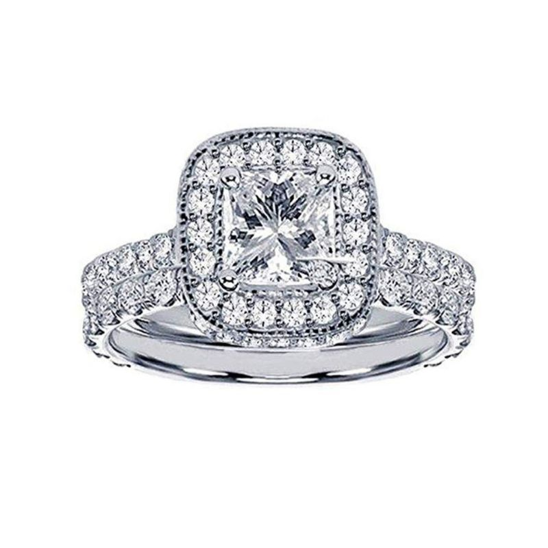 A Pavé Bridal Set Under $4000