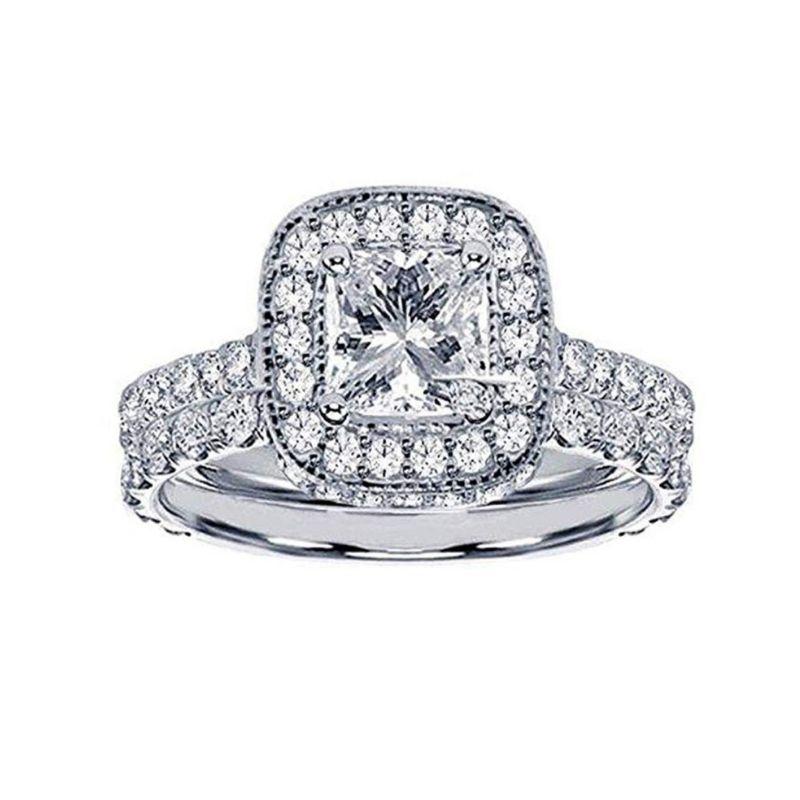 A Pavé Bridal Set Under $4000