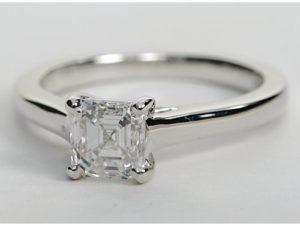 $3,445 Asscher Cut Solitaire | Engagement Ring Voyeur