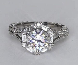 $9,149 Designer Vintage-Style Setting on Blue Nile | Engagement Ring Voyeur