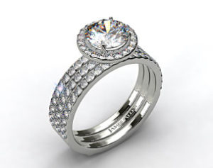 $29,140 James Allen 2 ct Halo Engagement Set | Engagement Ring Voyeur