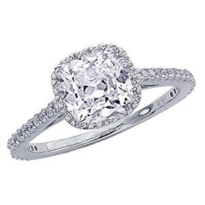 $2,380 Cushion Cut Halo from Chandni Jewels | Engagement Ring Voyeur