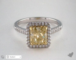 A Yellow Sapphire Engagement Ring for $1,879 | Engagement Ring Voyeur