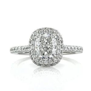 Mark Broumand Cushion Cut Halo for $24,145 | Engagement Ring Voyeur