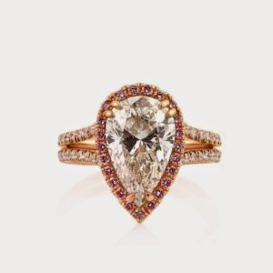 Pear Double Halo Engagement Rings…from High to Low