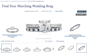 A Matching Wedding Band and a Coupon Code from Blue Nile