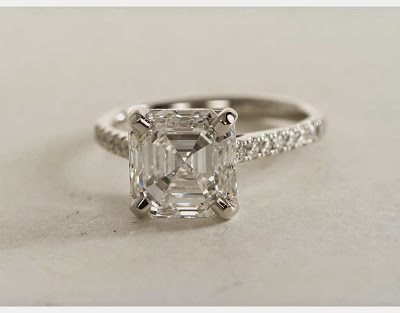 asscher diamond pave setting