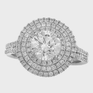 A Triple Halo Engagement Ring for $3395
