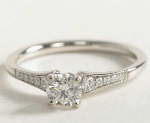 Blue Nile Milgrain Setting for $1,222 | Engagement Ring Voyeur