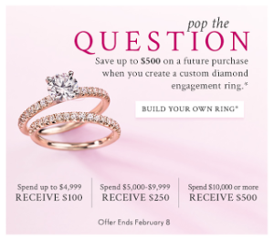 Blue Nile: $500 Off When You Build A Ring