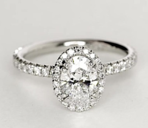 Blue Nile Studio Oval Cut Heiress Halo Diamond Engagement Ring $7,511