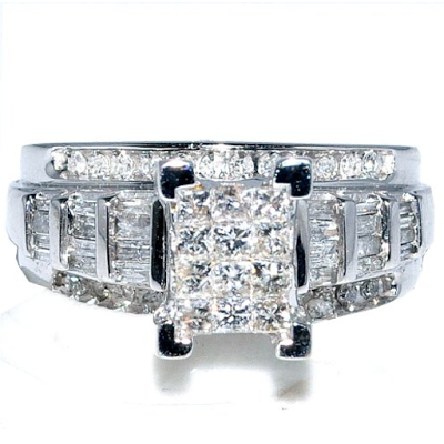 Princess cut composite ring from Amazon