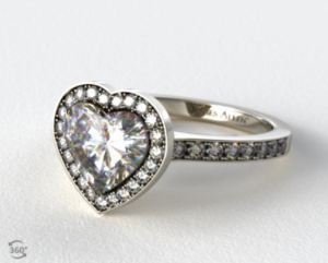 A Heart Shaped Halo Setting A La GaGa | Engagement Ring Voyeur