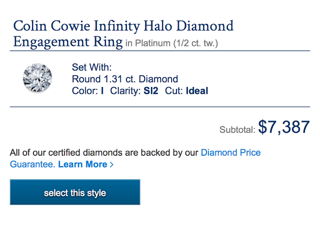 Colin Cowie Engagement Ring from Blue Nile