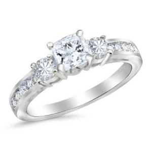 Amazon Ring of The Week: $2,365 1.1CT TW 3-Stone Ring | Engagement Ring Voyeur