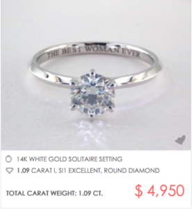 Six-Prong Knife Edge Solitaire Under $5000 | Engagement Ring Voyeur