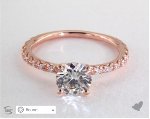 A Rose Gold French Pave Engagement Ring | Engagement Ring Voyeur