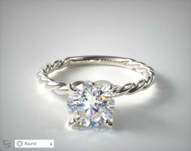 Cabled Engagement Ring Setting from James Allen